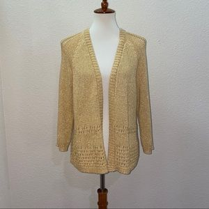 NWOT Chico's Golden Yellow Cardigan Size 2 Large